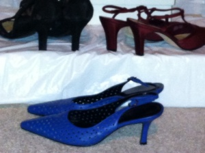 Three pairs of ladies shoes