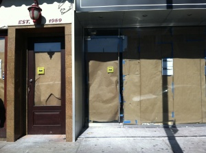 Two storefronts in Queens under renovation