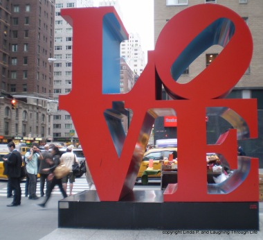 Love sculpture in New York City