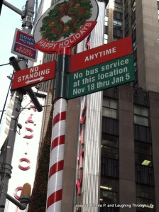 NYC Street Sign at Christmastime