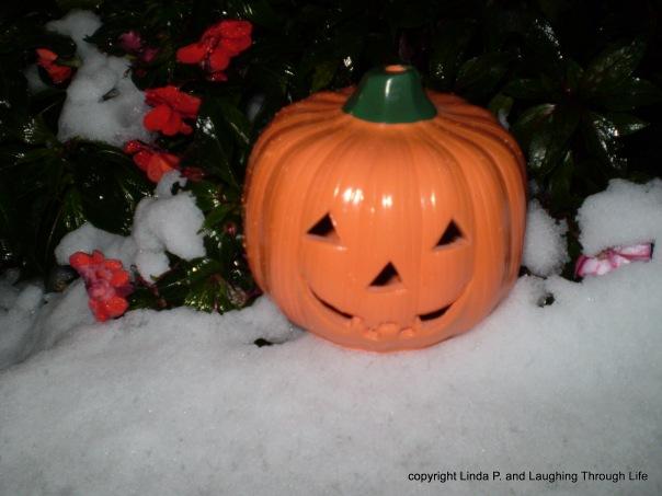 Halloween 2011: It snowed.