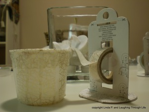 paper tape, plastic pot