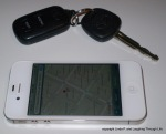 iPhone and car keys
