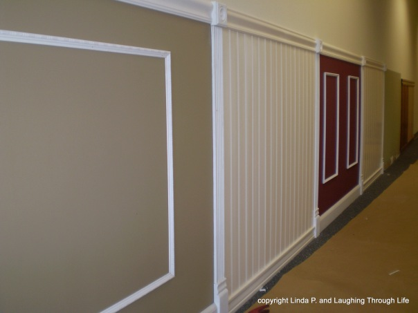 Sample walls in a contractor's showroom