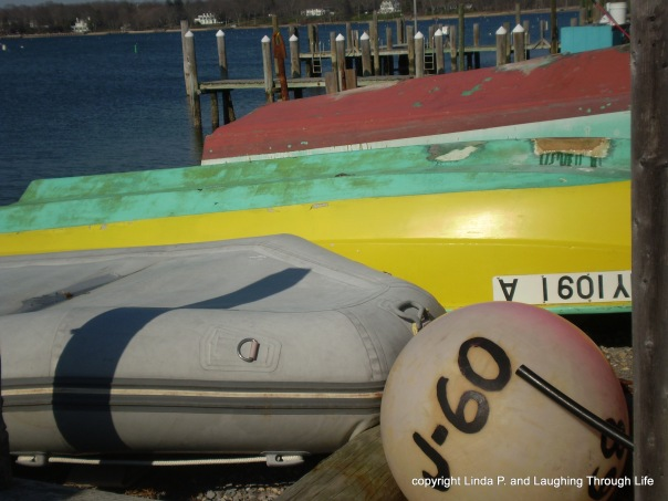 Boats in Greenport, not quite ready for the season.
