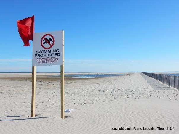 No lifeguards, no swimming
