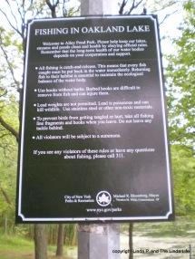 Sign at Oaklan Lake