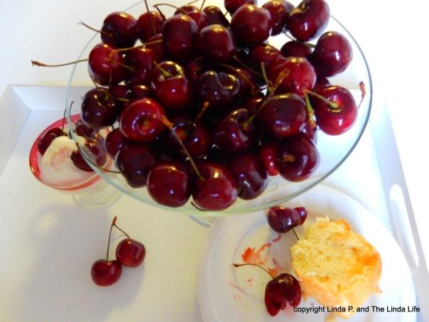 Pitting Cherries 7-24-16 - yummm