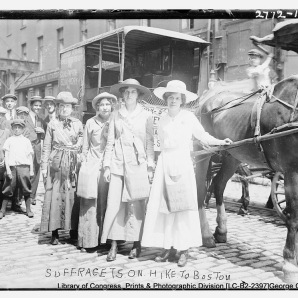 Boston Suffragists. Suffragettes.