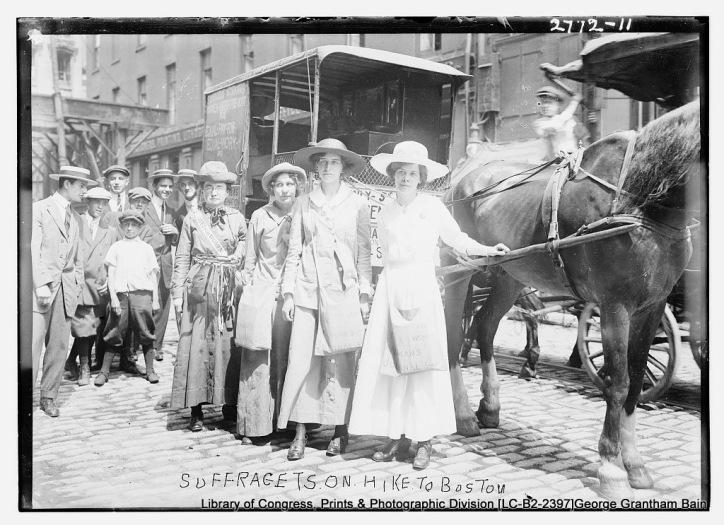 Boston Suffragists. Suffragettes.