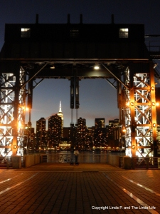 11/18/16 the Empire State Building as seen from Gantry Plaza State Park across the East River in Queens, NY