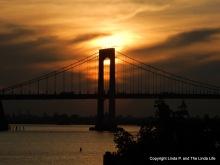 Throgs Neck Bridge at Sunset