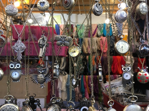 Collage of costume jewelry for sale at the Theatre District Shopping Court near Times Square 7-15-17 CREDIT Linda_P and The Linda Life www.TheLindaLife.com