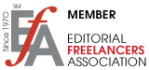 Editorial Freelancers Association Member Logo from EFA site