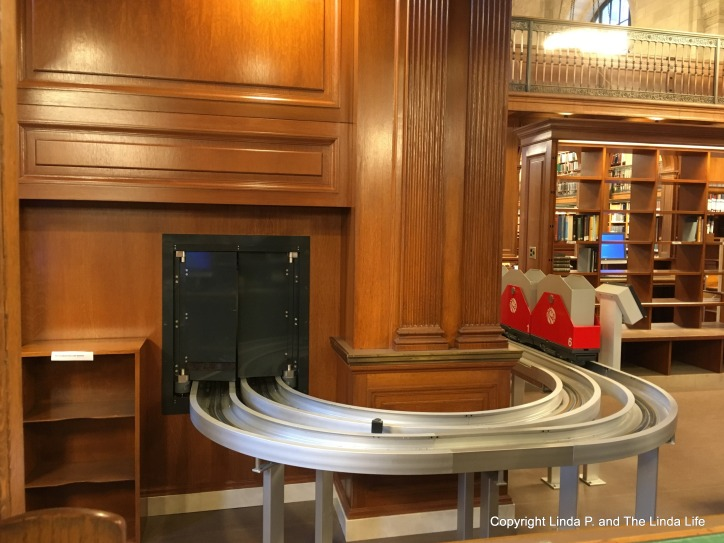 Book Train at NYPL Stephen A. Schwarzman Building on Fifth Avenue