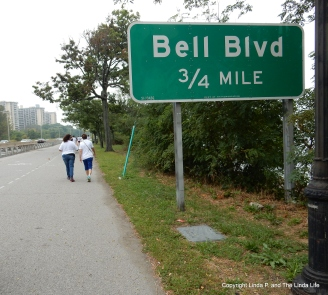 Cross Island Bike Path in Bayside - Bell Bld sign