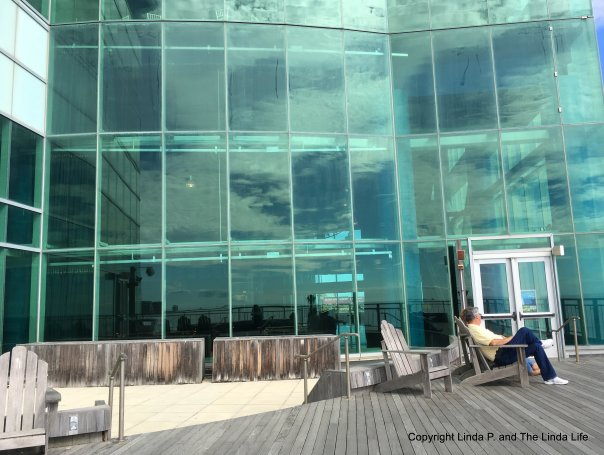 Serenity in Atlantic City 10-10-17 outside The Playground at Caesar's mall on the boardwalk.