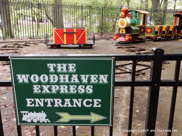 FOREST PARK, NYC The Woodhaven Express children's train ride